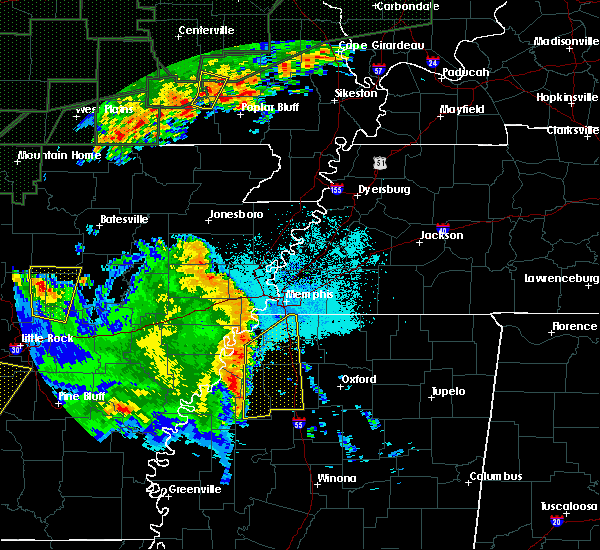 Radar Image for Severe Thunderstorms near Memphis, TN at 4/29/2017 7:46 PM CDT