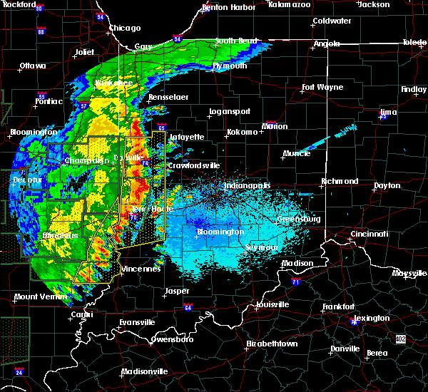 Radar Image for Severe Thunderstorms near Otterbein, IN at 4/29/2017 9:19 PM EDT