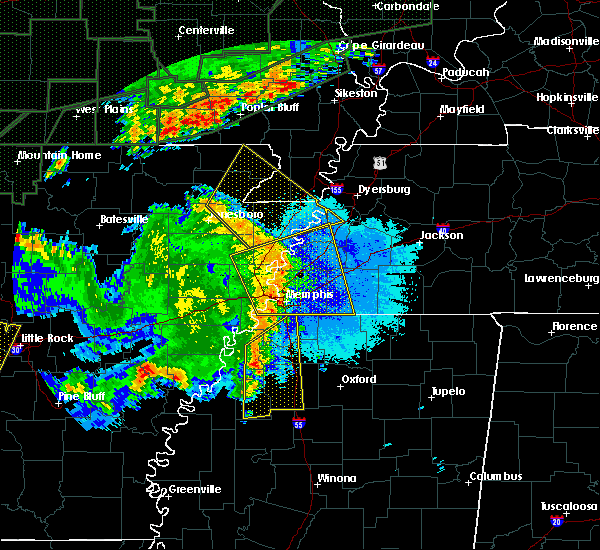 Radar Image for Severe Thunderstorms near Rector, AR at 4/29/2017 8:23 PM CDT