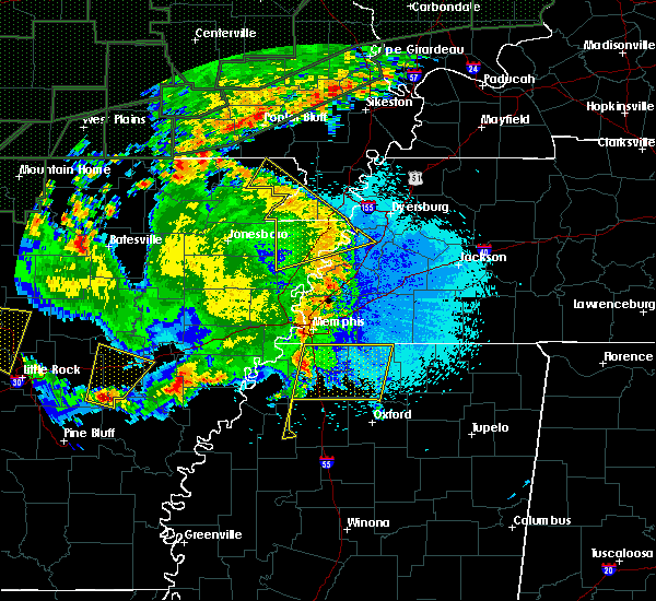 Radar Image for Severe Thunderstorms near Rector, AR at 4/29/2017 8:56 PM CDT