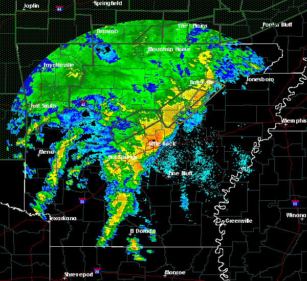 Radar Image for Severe Thunderstorms near Bradford, AR at 4/30/2017 12:15 AM CDT