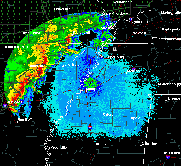 Radar Image for Severe Thunderstorms near Delaplaine, AR at 4/30/2017 12:28 AM CDT