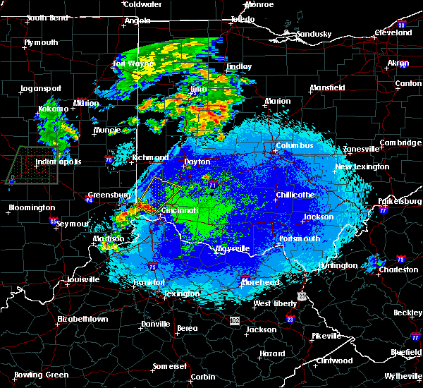 Radar Image for Severe Thunderstorms near Cincinnati, OH at 4/30/2017 1:34 AM EDT