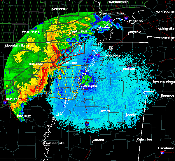 Radar Image for Severe Thunderstorms near Paragould, AR at 4/30/2017 1:21 AM CDT