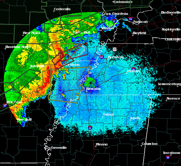 Radar Image for Severe Thunderstorms near West Memphis, AR at 4/30/2017 1:21 AM CDT