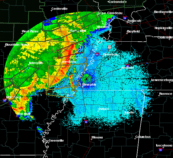 Radar Image for Severe Thunderstorms near West Memphis, AR at 4/30/2017 1:58 AM CDT
