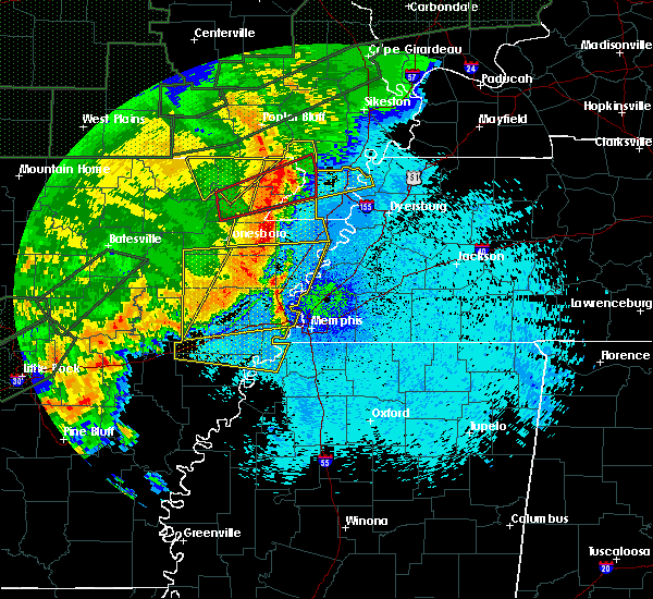 Radar Image for Severe Thunderstorms near Paragould, AR at 4/30/2017 2:01 AM CDT