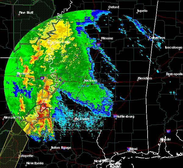 Radar Image for Severe Thunderstorms near Fayette, MS at 4/30/2017 6:45 AM CDT