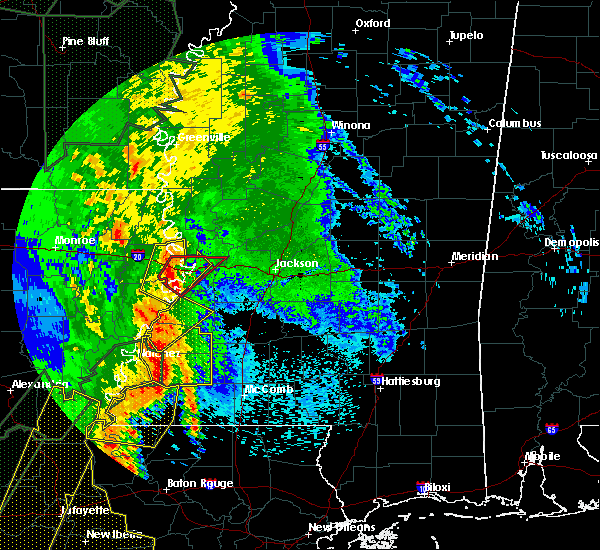 Radar Image for Severe Thunderstorms near Fayette, MS at 4/30/2017 7:10 AM CDT