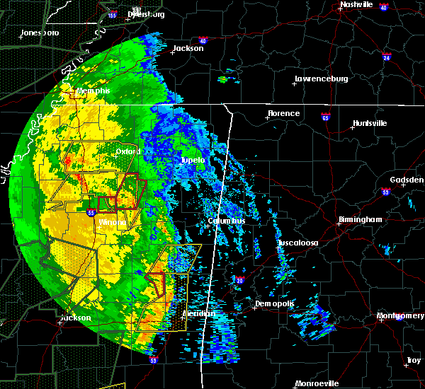 Radar Image for Severe Thunderstorms near Noxapater, MS at 4/30/2017 10:38 AM CDT