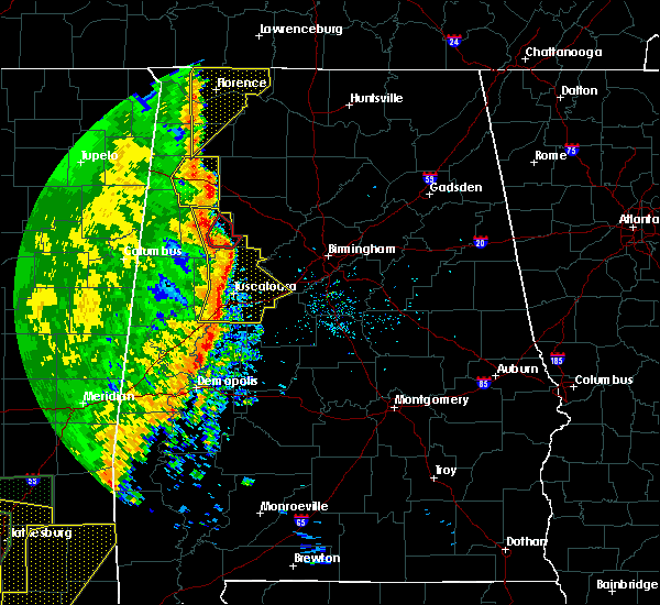 Radar Image for Severe Thunderstorms near Tuscaloosa, AL at 4/30/2017 12:55 PM CDT