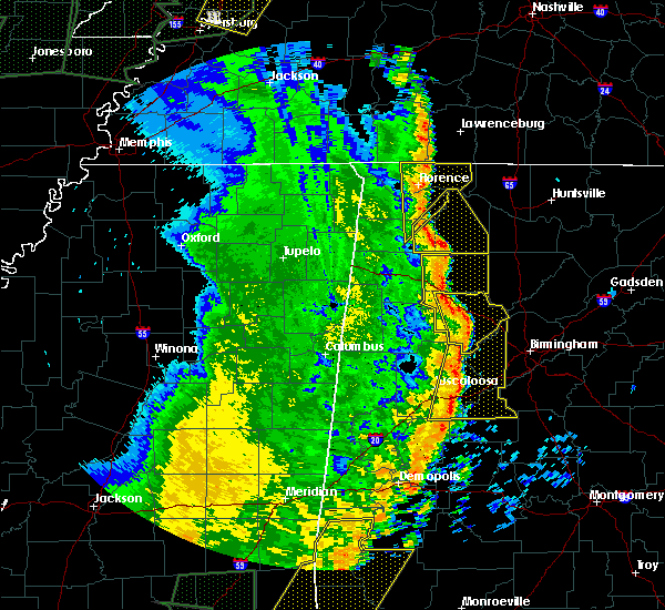 Radar Image for Severe Thunderstorms near Hatton, AL at 4/30/2017 1:18 PM CDT