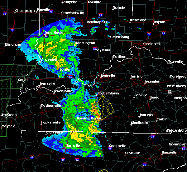 Radar Image for Severe Thunderstorms near Hodgenville, KY at 4/30/2017 4:45 PM CDT
