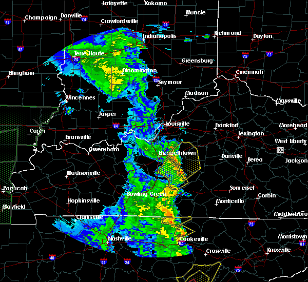 Radar Image for Severe Thunderstorms near Bradfordsville, KY at 4/30/2017 6:17 PM EDT