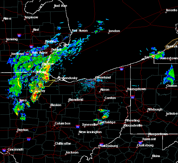 Radar Image for Severe Thunderstorms near Findlay, OH at 4/30/2017 6:17 PM EDT