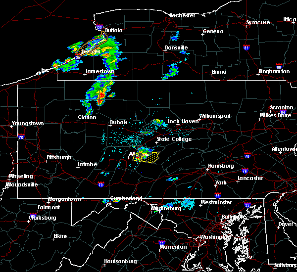 Radar Image for Severe Thunderstorms near Huntingdon, PA at 4/30/2017 6:26 PM EDT