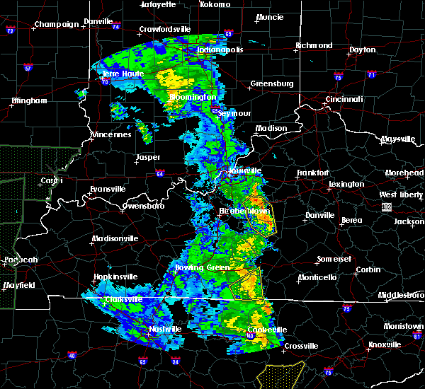 Radar Image for Severe Thunderstorms near Loretto, KY at 4/30/2017 6:38 PM EDT