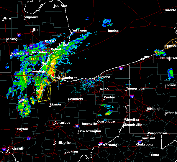 Radar Image for Severe Thunderstorms near Woodville, OH at 4/30/2017 6:38 PM EDT