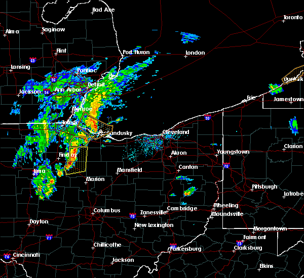 Radar Image for Severe Thunderstorms near New Riegel, OH at 4/30/2017 6:41 PM EDT