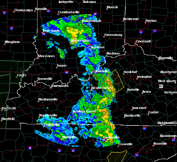 Radar Image for Severe Thunderstorms near Willisburg, KY at 4/30/2017 6:44 PM EDT