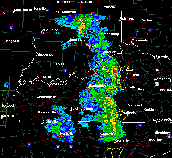 Radar Image for Severe Thunderstorms near Frankfort, KY at 4/30/2017 7:16 PM EDT