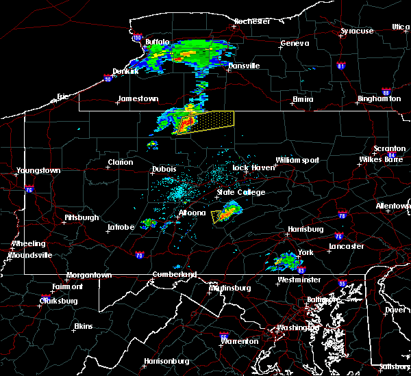 Radar Image for Severe Thunderstorms near Roulette, PA at 4/30/2017 7:16 PM EDT