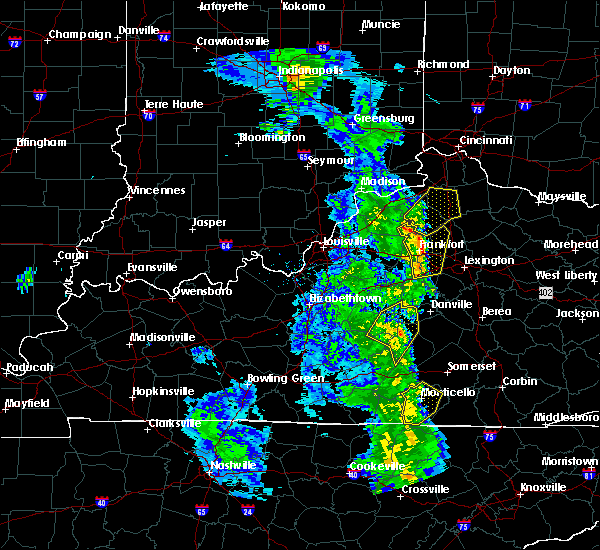 Radar Image for Severe Thunderstorms near Frankfort, KY at 4/30/2017 7:28 PM EDT