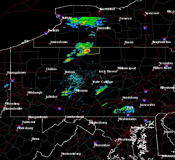 Radar Image for Severe Thunderstorms near Oswayo, PA at 4/30/2017 7:38 PM EDT