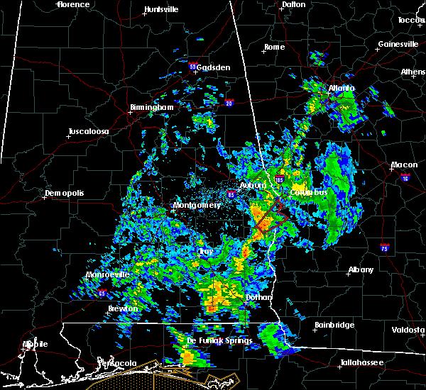 Radar Image for Severe Thunderstorms near Columbus, GA at 5/1/2017 8:36 AM CDT
