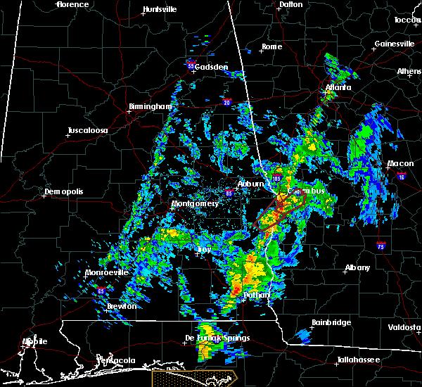 Radar Image for Severe Thunderstorms near Columbus, GA at 5/1/2017 10:10 AM EDT