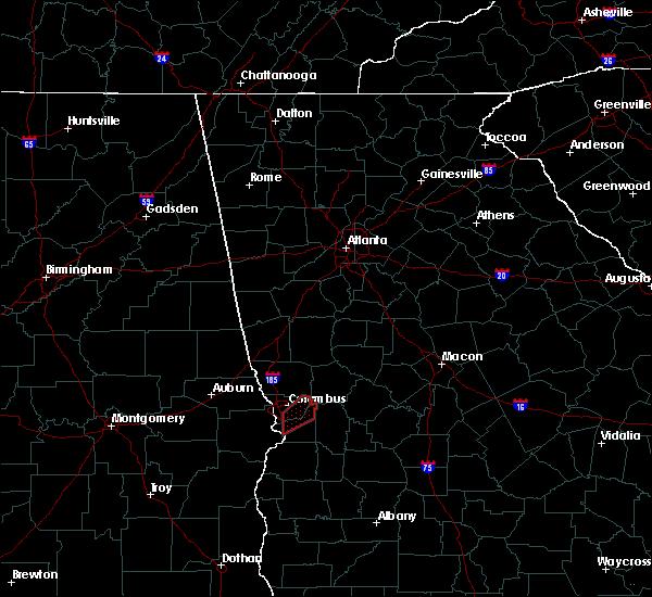 Radar Image for Severe Thunderstorms near Columbus, GA at 5/1/2017 10:25 AM EDT
