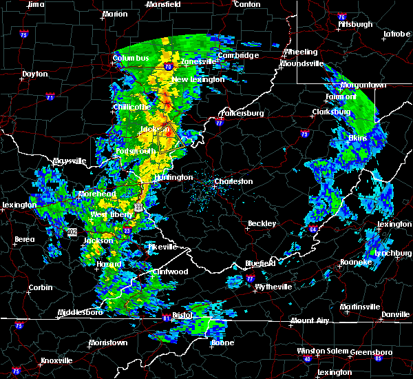 Radar Image for Severe Thunderstorms near Gallipolis, OH at 5/1/2017 11:52 AM EDT