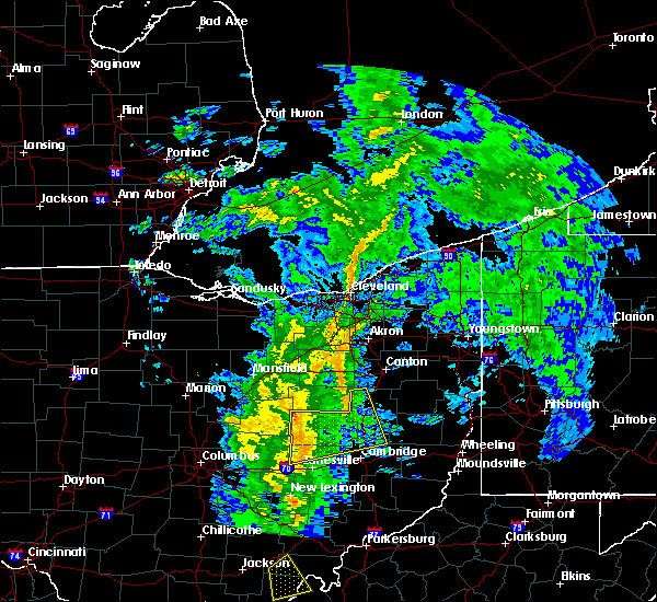 Radar Image for Severe Thunderstorms near Plainfield, OH at 5/1/2017 12:01 PM EDT