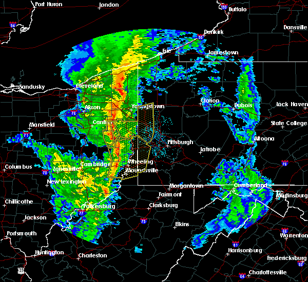 Radar Image for Severe Thunderstorms near Rogers, OH at 5/1/2017 1:39 PM EDT