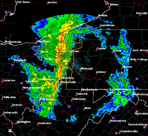 Radar Image for Severe Thunderstorms near Cortland, OH at 5/1/2017 1:48 PM EDT