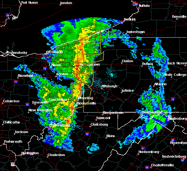 Radar Image for Severe Thunderstorms near Calcutta, OH at 5/1/2017 1:58 PM EDT