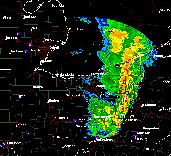 Radar Image for Severe Thunderstorms near Cortland, OH at 5/1/2017 2:04 PM EDT