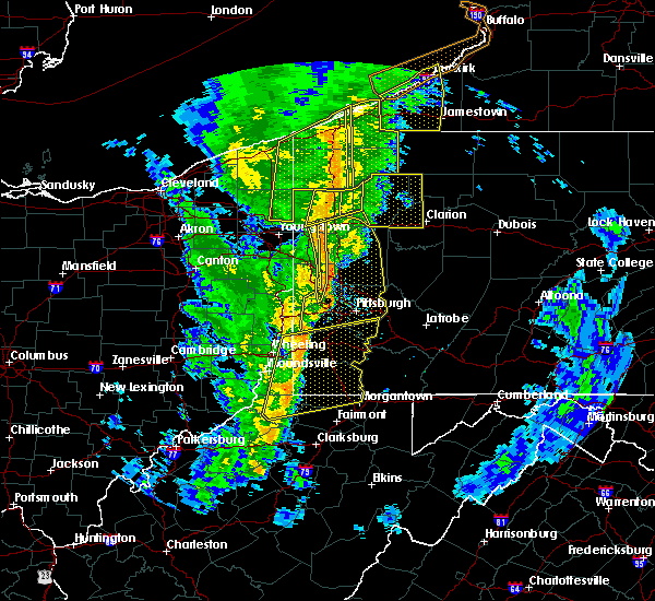 Radar Image for Severe Thunderstorms near Clarksville, PA at 5/1/2017 2:30 PM EDT
