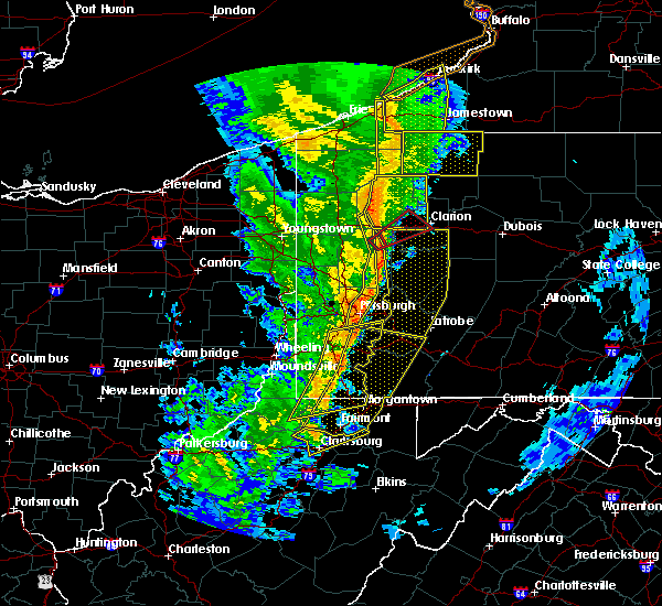 Radar Image for Severe Thunderstorms near Ellsworth, PA at 5/1/2017 2:57 PM EDT