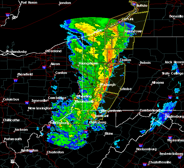 Radar Image for Severe Thunderstorms near Kittanning, PA at 5/1/2017 3:10 PM EDT