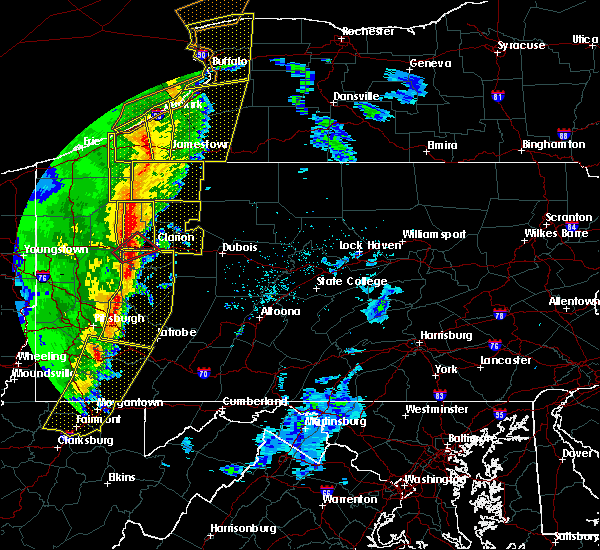 Radar Image for Severe Thunderstorms near Hasson Heights, PA at 5/1/2017 3:13 PM EDT
