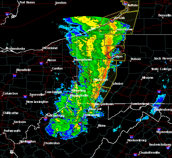 Radar Image for Severe Thunderstorms near Kittanning, PA at 5/1/2017 3:26 PM EDT