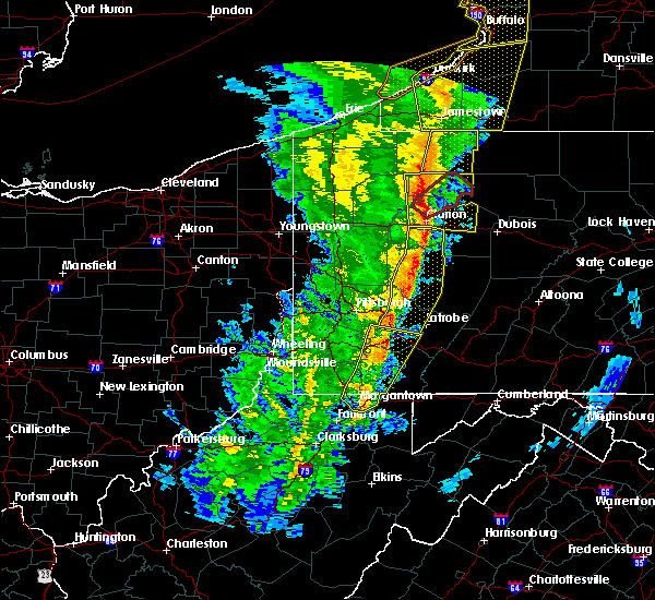 Radar Image for Severe Thunderstorms near Oliver, PA at 5/1/2017 3:30 PM EDT