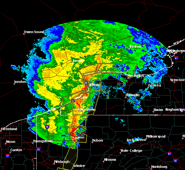 Radar Image for Severe Thunderstorms near Perrysburg, NY at 5/1/2017 3:35 PM EDT