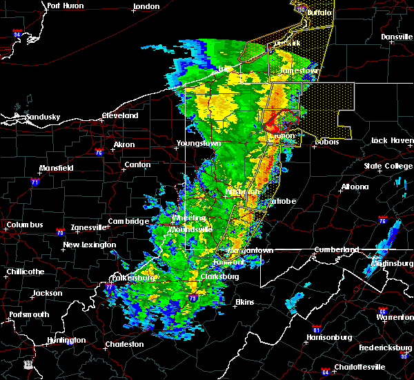 Radar Image for Severe Thunderstorms near Kittanning, PA at 5/1/2017 3:35 PM EDT