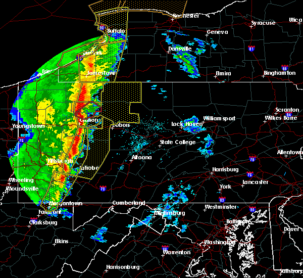 Radar Image for Severe Thunderstorms near Youngstown, PA at 5/1/2017 3:38 PM EDT