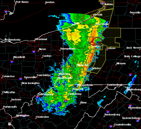 Radar Image for Severe Thunderstorms near Oliver, PA at 5/1/2017 3:38 PM EDT