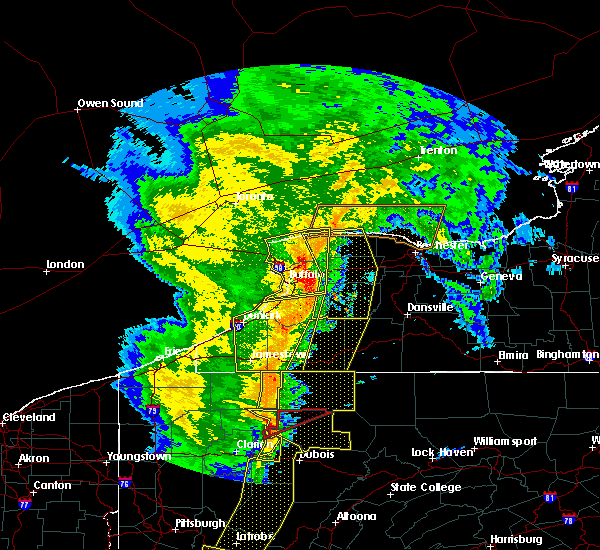 Radar Image for Severe Thunderstorms near Belfast, NY at 5/1/2017 3:55 PM EDT