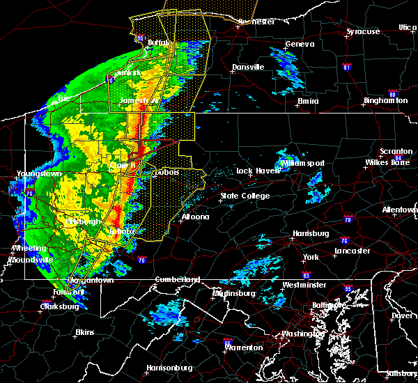 Radar Image for Severe Thunderstorms near Dunlo, PA at 5/1/2017 4:01 PM EDT