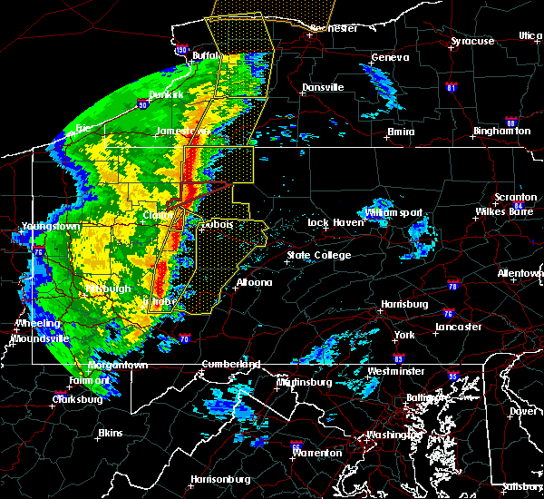 Radar Image for Severe Thunderstorms near Brookville, PA at 5/1/2017 4:04 PM EDT